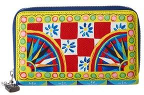 Dolce & Gabbana Carretto Print Zip-around Wallet. - MULTI - STYLE