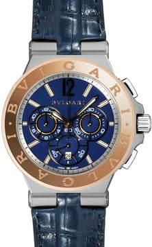 Bvlgari Diagono Blue Dial Chronograph Men's Watch