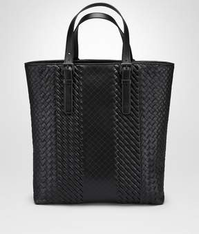 Bottega Veneta Nero Intrecciato Imperatore Calf Aquatre Bag