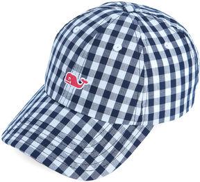 Vineyard Vines Girls Gingham Baseball Hat