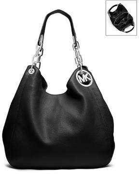 Michael Kors Fulton Leather Large Tote Shoulder Handbag - Black - 30H3SFTE3L-001 - BLACK - STYLE