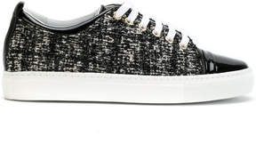Lanvin textured lace-up sneakers