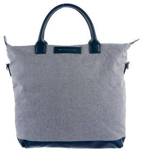WANT Les Essentiels Leather-Trimmed Woven Tote