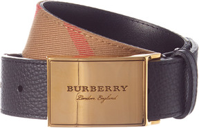Burberry George Check Leather Belt