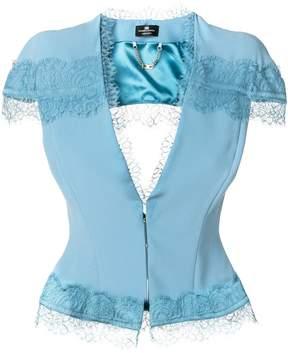 Elisabetta Franchi lace embroidered short jacket