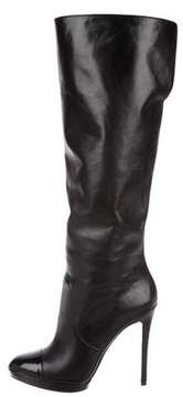 Brian Atwood Cap-Toe Knee Boots