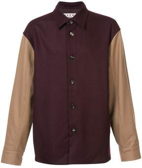 Marni colour block shirt jacket