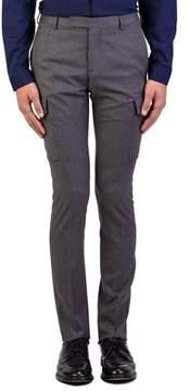 Christian Dior Men's Wool Slim Fit Cargo Dress Trousers Pants Light Grey.