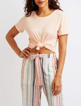 Charlotte Russe Slub Knit T-Shirt