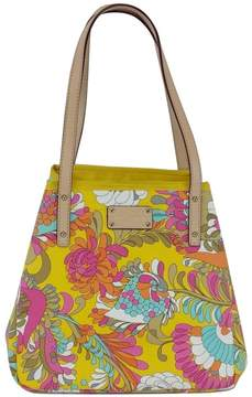 Kate Spade Floral Print Leather Tote Bag - YELLOW - STYLE