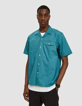 Carhartt Wip S/S Clover Shirt in Soft Teal