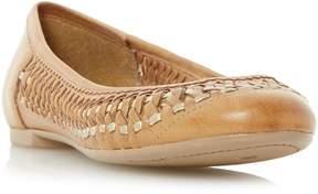 Dune London MORRAN - TAN Woven Ballerina Shoe