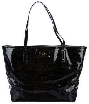 Kate Spade Patent Perforated Tote - BLACK - STYLE