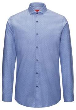HUGO Boss Hashtag Cotton Sport Shirt, Extra Slim Fit Erriko 15 Blue