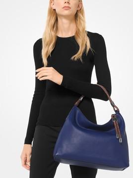 Michael Kors Skorpios Pebbled-Leather Shoulder Bag - SAPPHIRE - STYLE