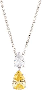 FANTASIA Double Pear-Drop CZ Crystal Pendant Necklace, Yellow