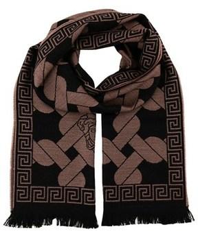 Versace It00633 Tortora Taupe 100% Wool Mens Scarf.