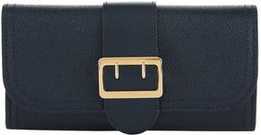 Burberry Buckle Textured Leather Continental Wallet - BLUE - STYLE