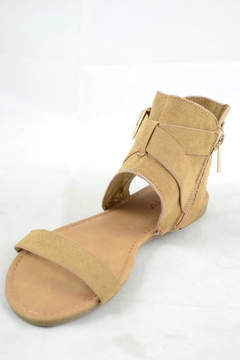 Bamboo Buckle Accent Sandal