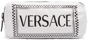 Versace Logo Print Belt Bag - Womens - White Multi