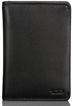 Tumi Men's Leather Card Case - Black