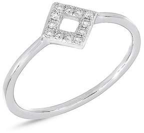 Bony Levy 18K White Gold Geometric Diamond Ring - 0.11 ctw