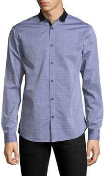 Armani Exchange Men's Cotton Dobby Sportshirt