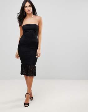 AX Paris Bandeau Pephem Lace Dress
