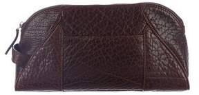 Salvatore Ferragamo Leather Zip Cosmetic Bag