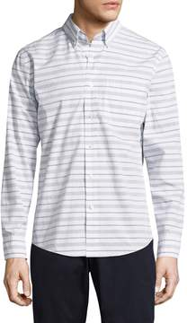 Jack Spade Men's Palmer Horizontal Variated Stripe Sportshirt