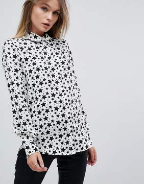 Brave Soul Twinkle Star Print Shirt