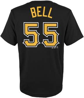 Majestic Boys 4-18 Pittsburgh Pirates Josh Bell Player Name and Number Tee