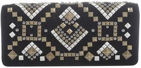 Kotur Black Suede Clutch Bag