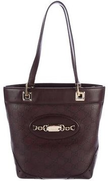 Gucci Small Guccissima Punch Tote - BROWN - STYLE
