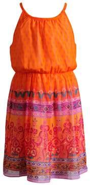 Youngland Girls 4-6x Woven Border Print Dress