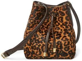 Lauren Ralph Lauren Leopard Debby II Drawstring Bag