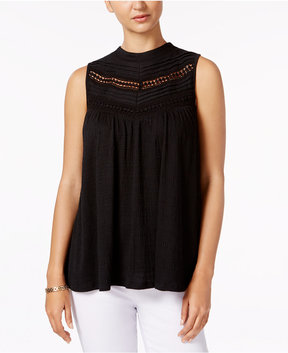 Cable & Gauge Lace-Trim Top