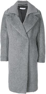 Fabiana Filippi oversized ribbed collar coat