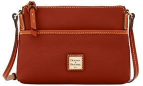 Dooney & Bourke Pebble Grain Ginger Pouchette Shoulder Bag - AMBER - STYLE