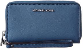 MICHAEL Michael Kors Michael Kors Jet Set Leather Wallet - BLUE - STYLE