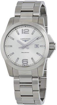 Longines Conquest Silver Dial Stainless Steel Men's Watch
