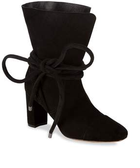 Saks Fifth Avenue Women's Shoestring Suede Booties