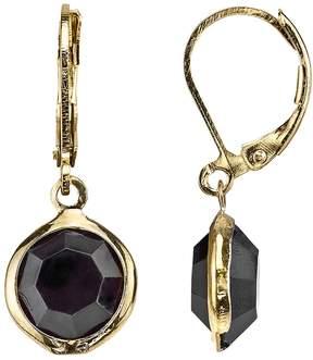1928 Faceted Circle Nickel Free Drop Earrings