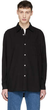 Our Legacy Black Basket Weave Shirt
