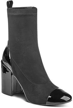 Marc Fisher Tache Suede & Patent Leather Booties