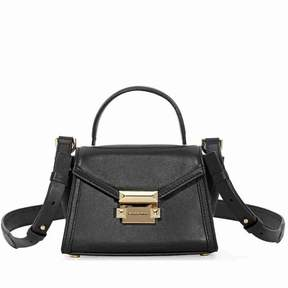 Michael Kors Whitney Mini Leather Satchel - Black - BLACK - STYLE