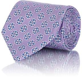 Isaia Men's Medallion-Print Cotton Twill Necktie