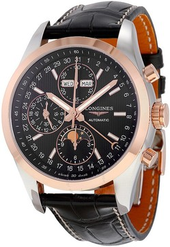 Longines Conquest Black Dial Chronograph Automatic Men's Watch L27985523