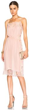 Fleur Du Mal Rose Lace Applique Slip Dress in Pink.