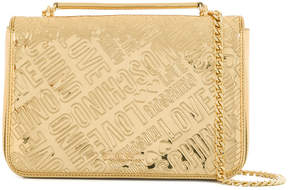 Love Moschino logo embossed shoulder bag